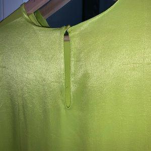 Zara lime green blouse